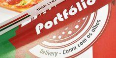 Jovem cria portfólio em forma de pizza e distribui nas agências de SP