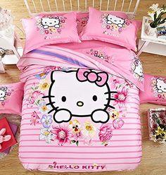 FADFAY 4Pcs Hello Kitty Bedding Sets Cute Cartoon Cotton ... https://www.amazon.com/dp/B01DU3TYP0/ref=cm_sw_r_pi_dp_W.eFxbJRZHZ83