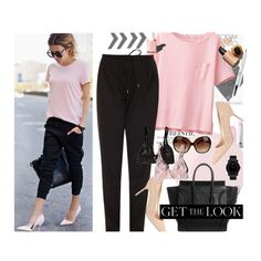 Get the LOOK:Street Style Linen Joggers by bamaannie on Polyvore featuring Uniqlo, Vince, Manolo Blahnik, Movado, Tory Burch, Essie, Garance Doré, GetTheLook, StreetStyle and Joggers