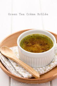 Tea Recipe: Green Tea Crème Brûlée - @Nami   Just One Cookbook