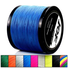 JOF 300M 500M 1000M 4 Strands 10-80LB PE Braided Fishing Wire Fishing Line Multicolor Ocean Rocks, Fishing Line, Color Lines, Braids, Wire, Post Office, Delivery, Number, House
