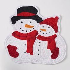 St. Nicholas Square® Snowman Quilted Placemat