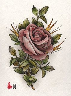 Nice >> Chinese language Rose Drawing Tattoo | Greatest Tattoo Concepts Gallery