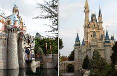 ¿Hay lo mismo en Disneyland que en Disney World?