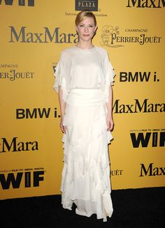 Cate blanchett en robe Chloé pendant les Women In Film 2014 Crystal + Lucy Awards, au Hyatt Regency