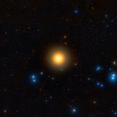 Aldebaran, an orange giant star in the constellation of Taurus.