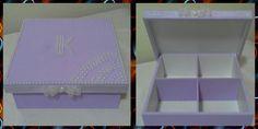 Caixa lilás com pérolas