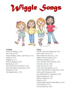 Lds reverent and wiggle song list Nursery Activities, Primary Activities, Primary Lessons, Nanny Activities, Primary Singing Time, Primary Music, Lds Primary Songs, Lds Music, School