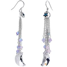 Handcrafted Celestial Dangle Earrings MADE WITH SWAROVSKI ELEMENTS | Body Candy Body Jewelry #bodycandy #earrings #jewelry