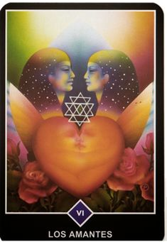 The Lovers from the Osho Zen Tarot Tarot Card Spreads, Tarot Cards, Tarot Osho Zen, Amor Universal, The Lovers Tarot Card, Tarot Major Arcana, What Is The Secret, Doreen Virtue, Angel Cards