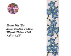 (5) Name: 'Jewelry : Forget Me Not Loom Pattern