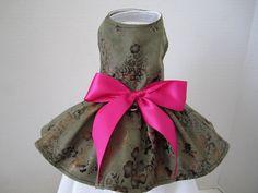 Dog Dress XS Olive  By Nina's Couture Closet by NinasCoutureCloset