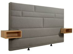 Upholstered headboard with integrated nightstands Boxspring Suite Deluxe Collection by Hülsta-Werke Hüls Master Bedroom Design, Bedroom Bed, Modern Bedroom, Bedroom Decor, Contemporary Bedroom, Bedroom Furniture, Furniture Design, Headboard Designs, Headboards For Beds