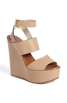 I NEED THIS!!!!! Chloé 'Central' Wedge Sandal | Nordstrom & IN BLACK ALSO