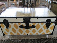 Beautiful Hand Painted Antique Trunks by PenelopesEmporium on Etsy, $145.00