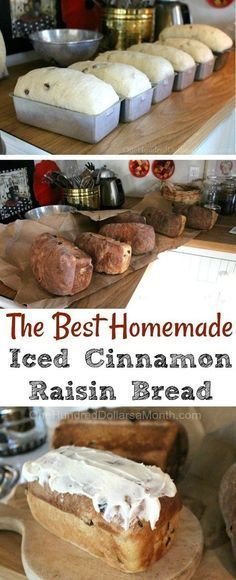 The Best Homemade Iced Cinnamon Raisin Bread
