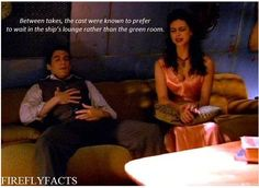 Firefly Facts - the cast hung out in the ship's lounge.  Well, they still hang out - only now in a bunch of lounges called Cons.