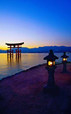 Floating Torii Gate, Itsukushima Shrine, Miyajima, Hiroshima, Japan- need we say more! #travelingTOMS
