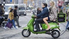 Electric scooters debuts as taxis in Amsterdam ! #energyefficient