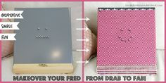 How to easily makeover your FRED2 easel for project designing. http://scrapbookwonderland.com/bling-up-your-scrap-easel-fred2/