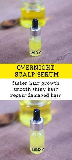 Hair Remedies OVERNIGHT SCALP SERUM FOR FASTER HAIR GROWTH - Hair growth can be affected by a number of factors like stress, lack of hair care, pregnancy, hormonal changes etc. It is important to give your hair some special care… Hair Growth Tips, Natural Hair Growth, Natural Hair Styles, Diy Hair Growth Serum, Faster Hair Growth, Olive Oil Hair Growth, Diy Hair Serum, Grow Hair Overnight, Damaged Hair Repair