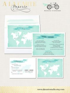Two Countries One Love Bilingual World Map by alacartestudio
