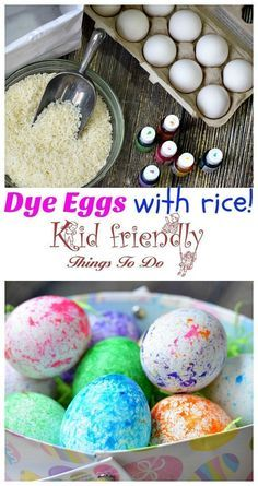 How to Use RICE To Dye Easter Eggs (Super Fun and Easy!) – perfect for preschool kids and big kids. Teens will love this DIY! so easy to clean up! Easter Egg Dye, Coloring Easter Eggs, Hoppy Easter, Easter Party, Easter Eggs Kids, Egg Coloring, Easter Cake, Easter Bunny, Easter Eggs