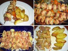 """Ražniči chutná i """"baví"""". 10 osvědčených receptů na špízy na špejli, na plechu v troubě i v remosce Pork Meat, Shrimp, Treats, Chicken, Food, Plants, Diet, Chef Recipes, Cooking"""