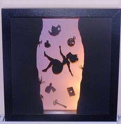 Alice in Wonderland inspired silhouette by Craftylittlefoxetsy