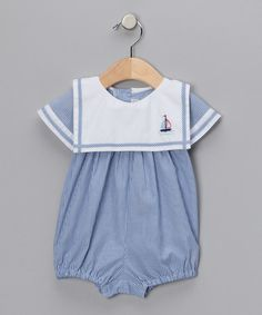 Look what I found on #zulily! Navy Stripe Bubble Romper - Infant #zulilyfinds