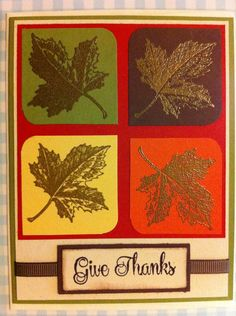 Thanksgiving/Fall leaves card by stampinmaniak on Etsy, $3.00
