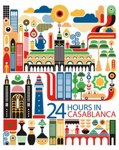 Casablanca World City Illustration by Fernando Volken Togni