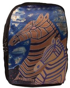 171e34976525 Items similar to Whimsical Zebras Backpack - From my Original Oil Painting