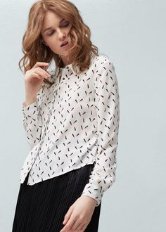 Printed shirt -  Woman | MANGO Ireland