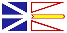 Newfoundland and Labrador is the easternmost province of Canada. Situated in the country's Atlantic region, it incorporates the island of Newfoundland and mainland Labrador to the northwest, with a combined area of square kilometres. Newfoundland Flag, Newfoundland And Labrador, Newfoundland Recipes, Christopher Pratt, Gros Morne, I Am Canadian, Canadian Flags, Tatoo, Newfoundland