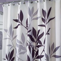 Category Purple Shower Curtains Tahari Printemps Plum Gray Teal On White  Cotton martinkeeis me 100 And Grey Curtain Images Home Design Plan
