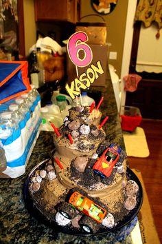 Monster Truck Birthday Cake Party Trucks