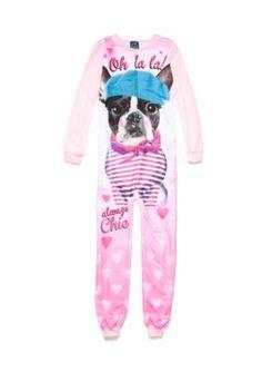 Jellifish Kids Footed Pajama Girls 4-16 - Baby Pink - Xs