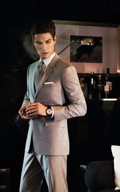 I think I will wear a suit like this to the wedding I'm going to soon!!!