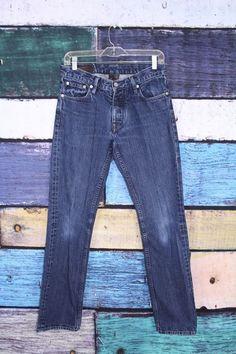 Club Monaco Men's Dark Wash Denim Cotton Slim Straight Jeans 30 X 30.5 #ClubMonaco #SlimStraight