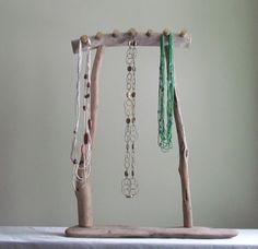 Driftwood Necklace Display Driftwood Jewelry Display