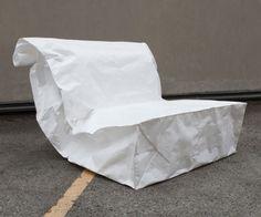 Spalvieri and del Ciotto have designed a sacchetto Tyvek® #chair