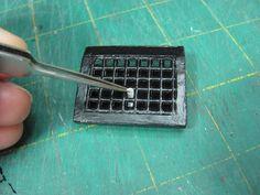 Dollhouse Miniature Furniture - Tutorials | 1 inch minis: Gravity Baseboard Registers