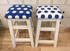 Wet felted fabric and handmade stools. Made by Bluebird Woolen Arts/ Leslie Cervenka