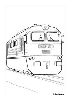 Vonatos kifestők és színezők. Vonatos nyomtatható kifestők.