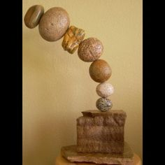 Picture of rock sculpture by Leann Harding