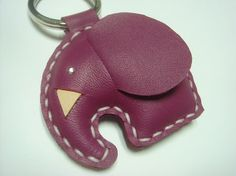 Cute keychain, make with all my scraps of fake-leather.