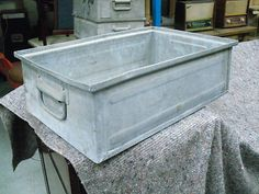 Industrial Metal Stacking Shop Storage Trays Drawers Display | eBay