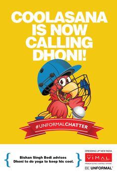 Bishan Singh Bedi advises #Dhoni to do #yoga to keep his cool. #UnformalChatter