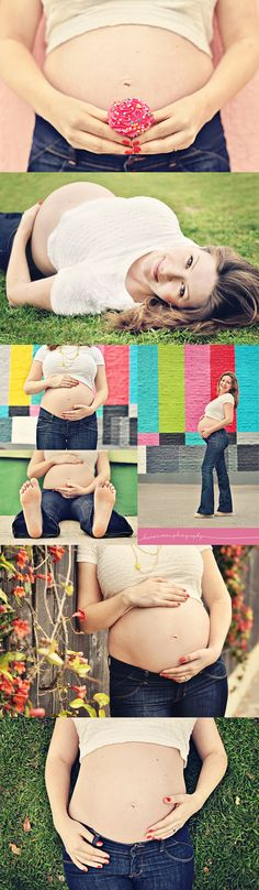 Maternity Photo Shoot Inspiration - I love a good maternity collage. Nicely colored as well.